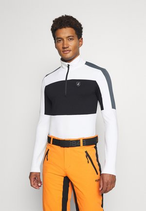 RICK - Long sleeved top - bright white/black