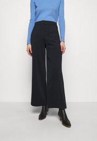 MAX&Co. - CREMA - Kalhoty - navy blue - 0