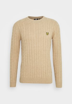 CABLE JUMPER - Maglione - sand storm marl