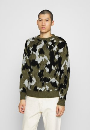 BRUSHED CREW NECK - Jumper - khaki
