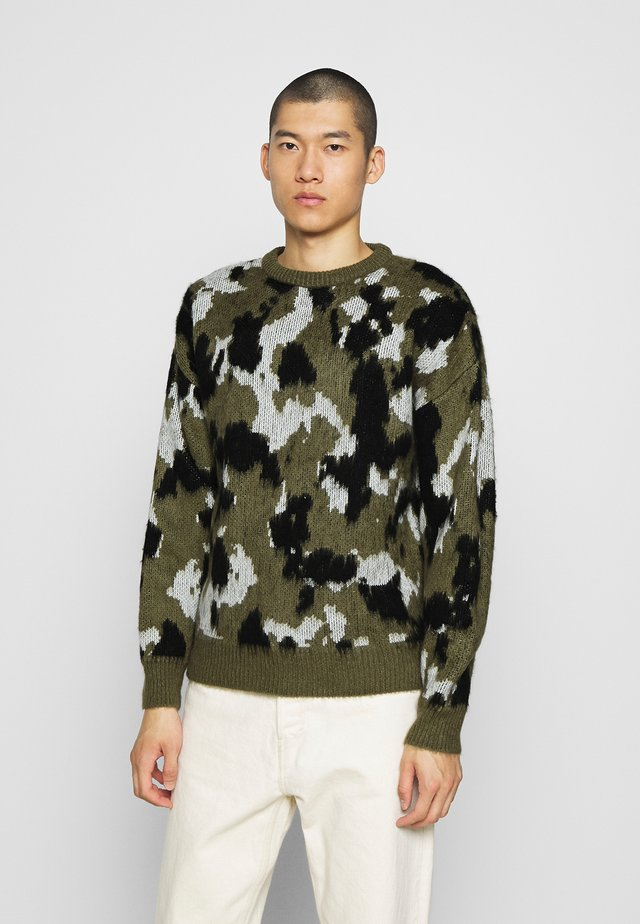 BRUSHED CREW NECK - Pullover - khaki