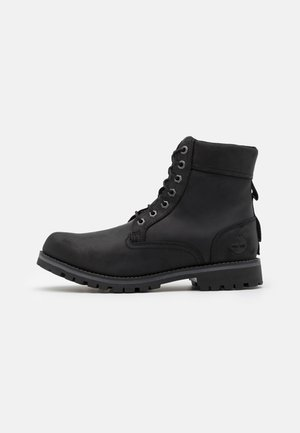 RUGGED 6 IN PLAIN TOE WP - Botki sznurowane - black