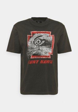 GARRISON UNISEX - T-shirt print - raven