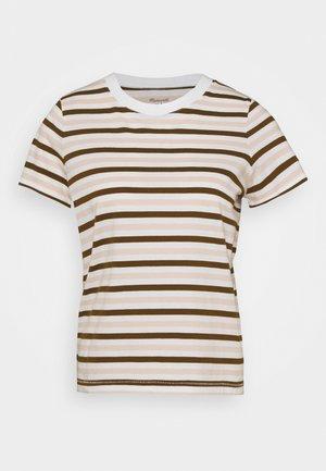 STRIPE - Print T-shirt - doberman/peach blush
