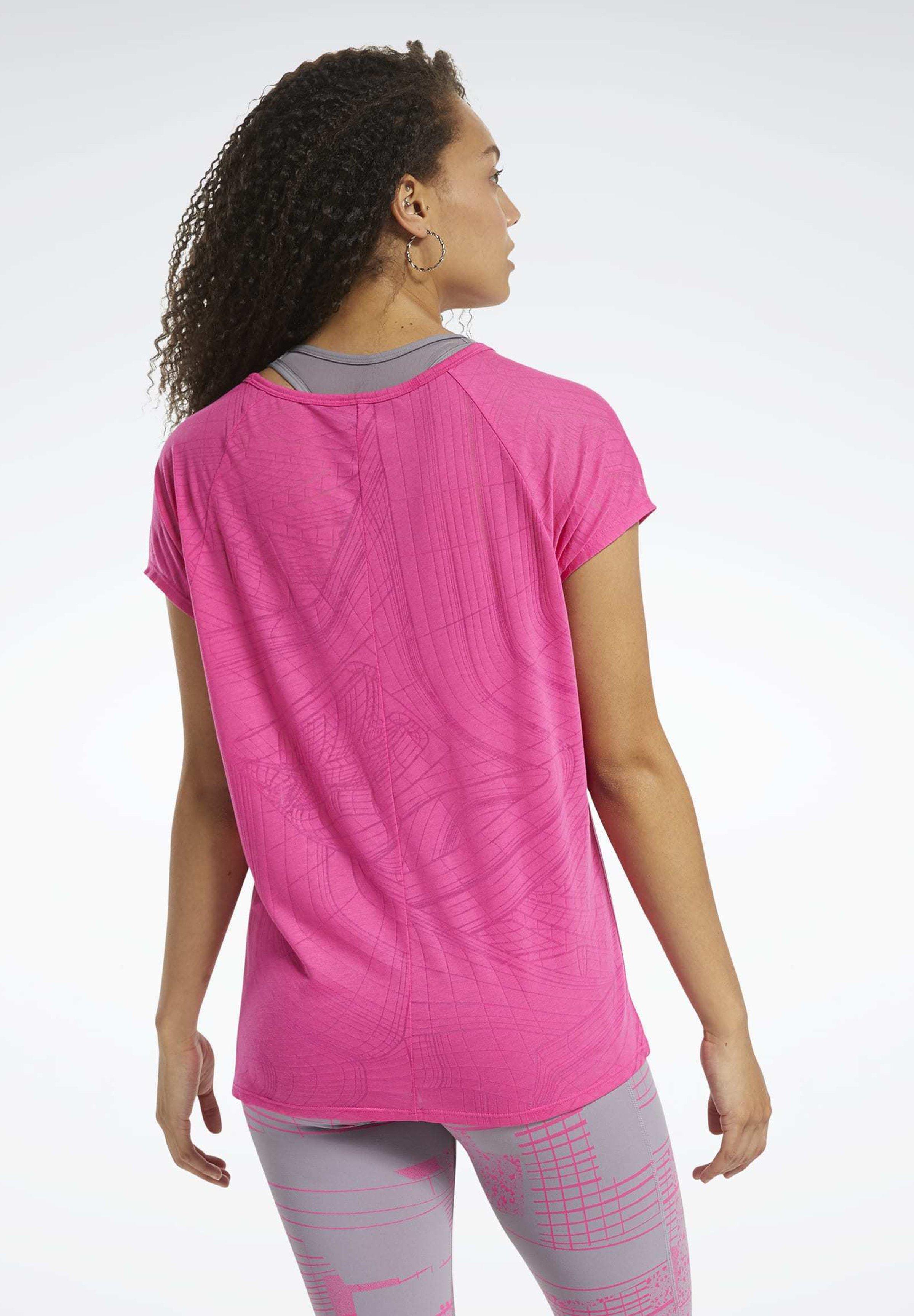 Reebok BURNOUT T-SHIRT - Print T-shirt - pink sibrd