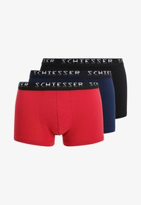 Schiesser - HIP-SHORTS 3 PACK - Pants - black