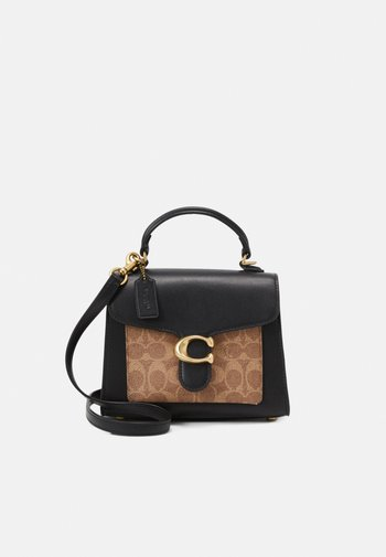 SIGNATURE TABBY TOP HANDLE - Handbag - tan/black