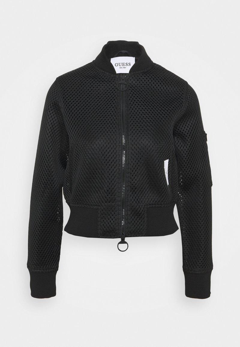 Guess - FULL ZIP JACKET - Training jacket - jet black