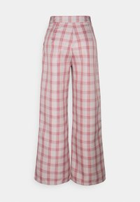 Missguided Petite - GINGHAM BRALET AND WIDE LEG SET - Top - pink - 4