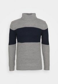REINOLD - Jumper - silver grey marl/ french navy
