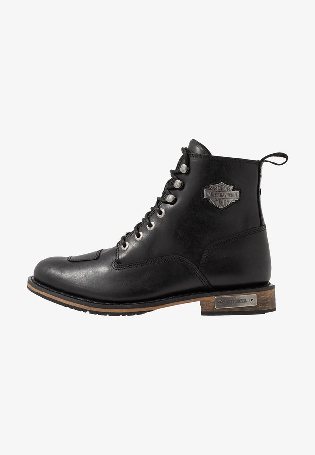 WILLARD - Lace-up ankle boots - sheen black