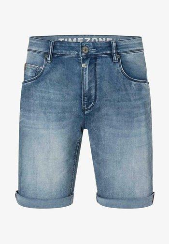 Denim shorts - antique blue wash