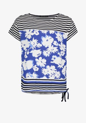 TUNNELZUG - Print T-shirt - dunkelblau/weiß