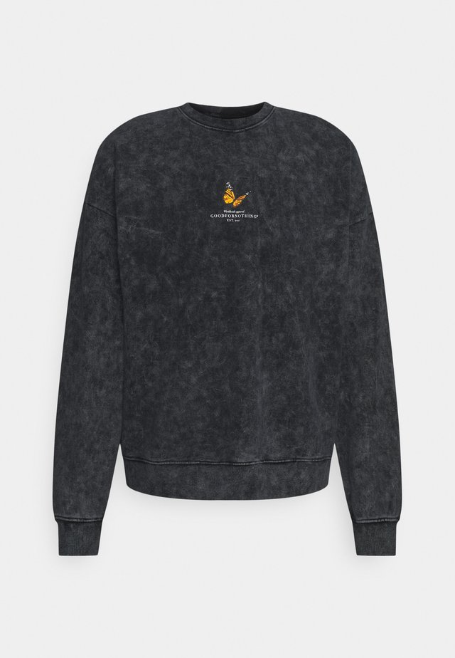 ACID WASH BUTTERFLY UNISEX - Sweatshirt - grey