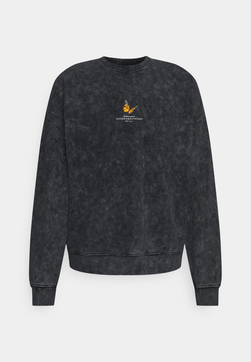 Good For Nothing - ACID WASH BUTTERFLY UNISEX - Sweater - grey
