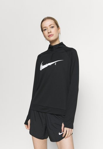 RUN MIDLAYER - T-shirt de sport - black/white