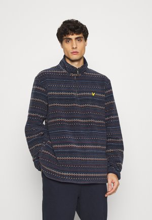 FAIRISLE HALF ZIP - Fleece jumper - dark navy