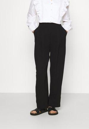 CREPE TROUSER - Trousers - black