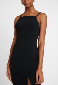 WAL G. - STRAPPY SQUARE NECK MIDI DRESS - Shift dress - black - 4