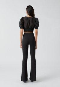 PULL&BEAR - Pantalon classique - mottled black - 2