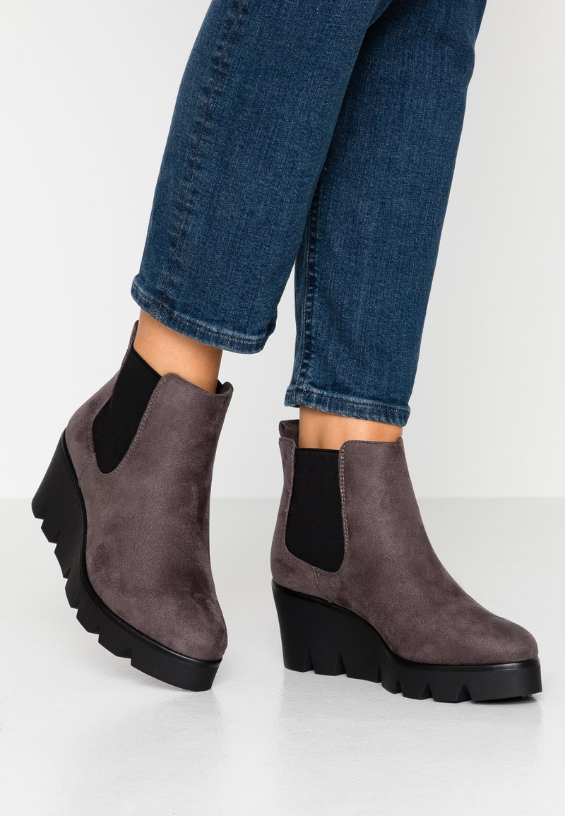 Anna Field - Wedge Ankle Boots - grey
