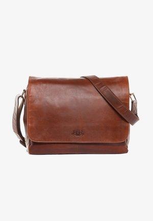 SPENCER - Laptop bag - braun cognac