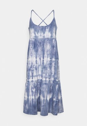 STRAPPY TIERED MIDI - Jersey dress - blue tie dye