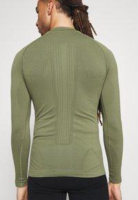 NU-IN - HALF ZIP LONG SLEEVE  - Long sleeved top - khaki - 3