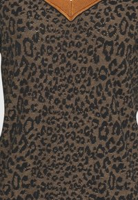 Scotch & Soda - V-NECK KNIT WITH PATTERN - Jumper - brown - 2