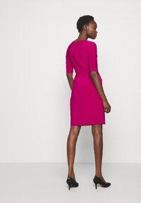 Lauren Ralph Lauren - MID WEIGHT DRESS - Day dress - bright fuchsia - 3