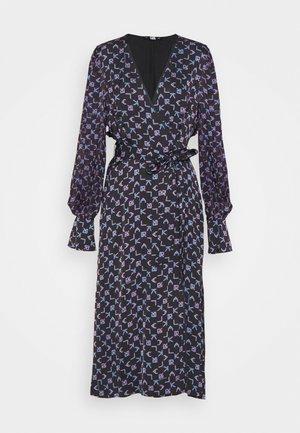 TETRIS PRINTED WRAP DRESS - Vapaa-ajan mekko - black