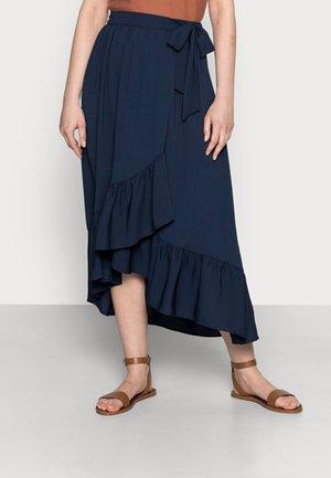POLIN - Wrap skirt - bleu marine