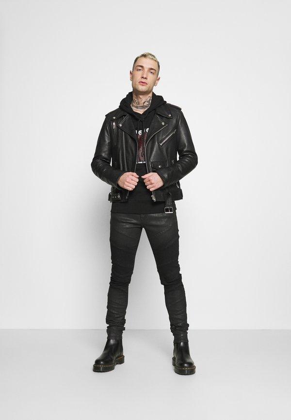 Diesel UMLT-BRANDON SWEAT-SHIRT - Bluza z kapturem - black/czarny Odzież Męska YVKL