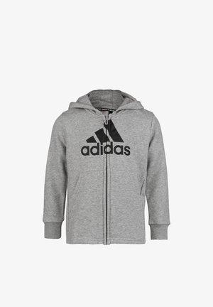 Zip-up hoodie - mid grey heather / black