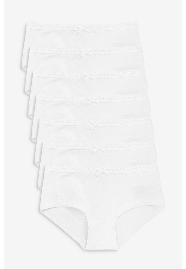7 PACK HIPSTER BRIEFS (2-16YRS) - Braguitas - white