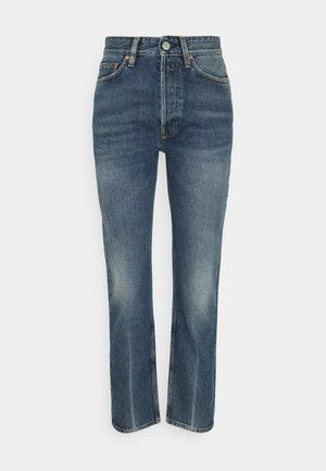 BILLY CREASE - Jeans straight leg - mid blue crease