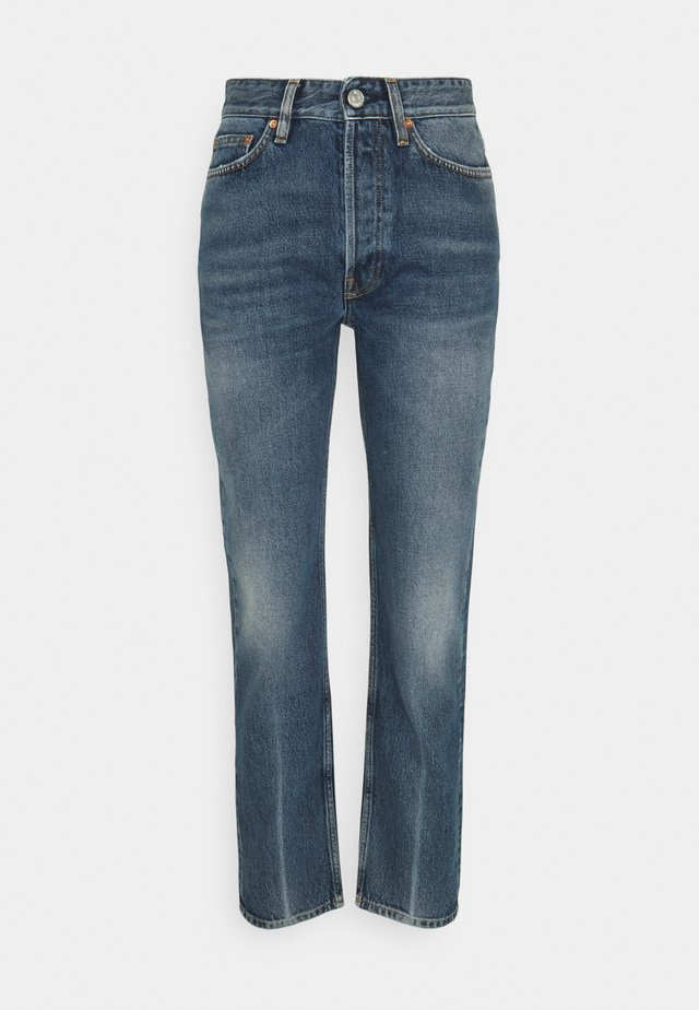 BILLY CREASE - Straight leg jeans - mid blue crease