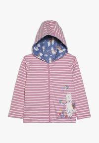 JoJo Maman Bébé - LLAMA REVERSIBLE HOODIE - veste en sweat zippée - rosa - 0