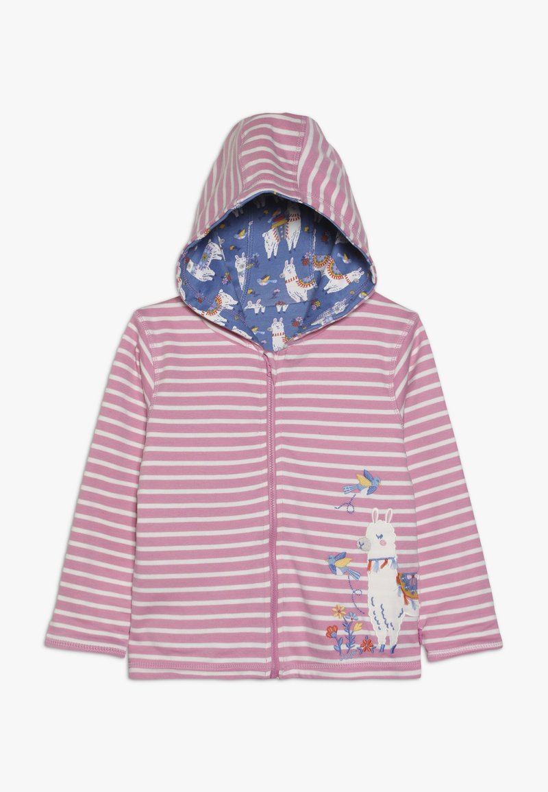 JoJo Maman Bébé - LLAMA REVERSIBLE HOODIE - veste en sweat zippée - rosa
