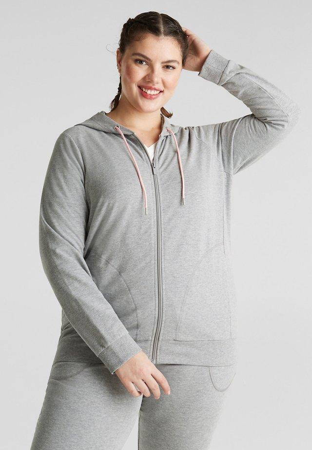 Hoodie met rits - medium grey