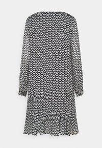 Marc O'Polo - DRESS FLUENT SHORT STYLE V NECK - Denní šaty - black - 1