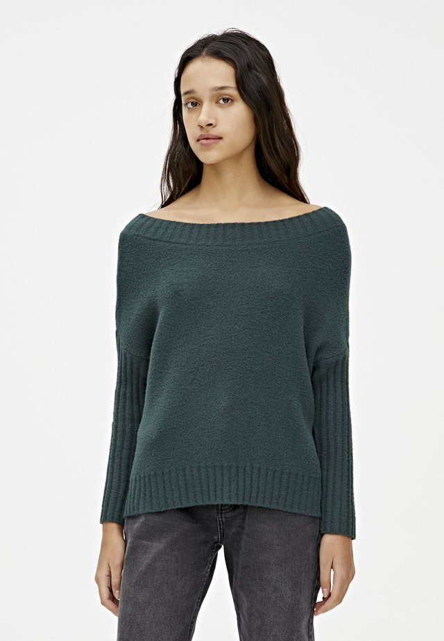 WEICHER STRICKPULLOVER 09558342 - Sweter - dark green