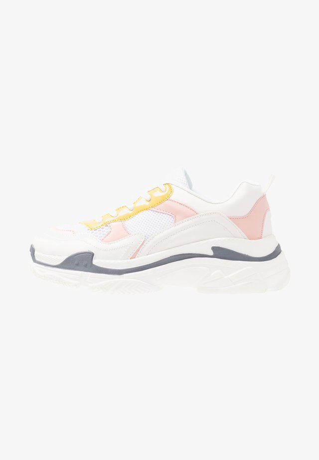Baskets basses - pink/yellow/white