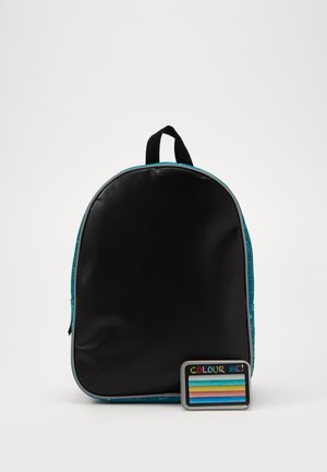FABRIZIO KIDS DRAW YOURSELF BACKPACK WITH CRAYON PANEL - Rygsække - teal