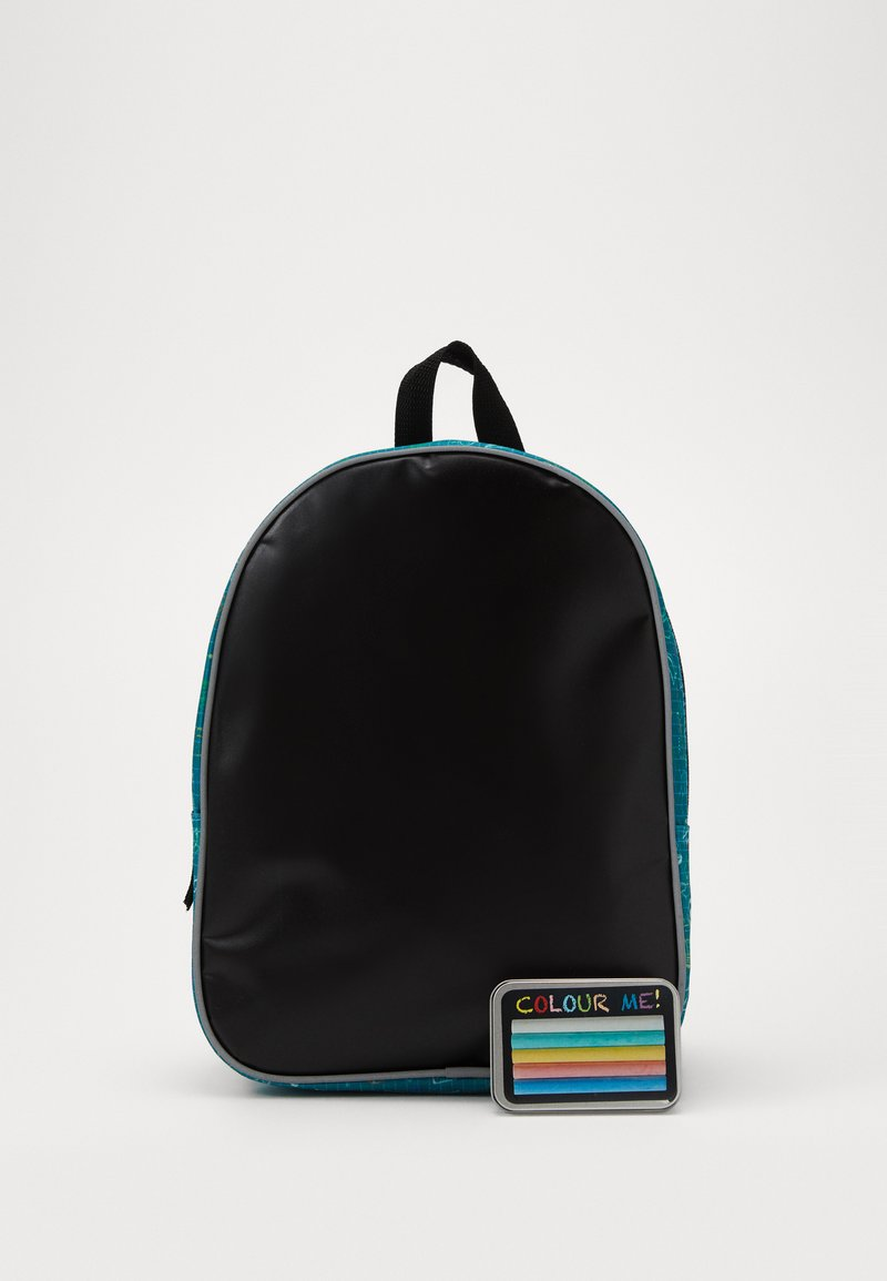 Fabrizio - FABRIZIO KIDS DRAW YOURSELF BACKPACK WITH CRAYON PANEL - Ryggsekk - teal
