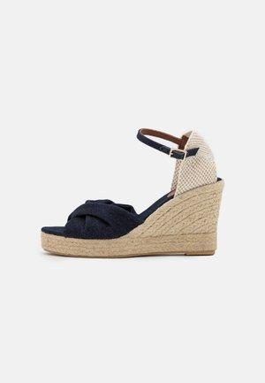 Sandály na platformě - denim blue