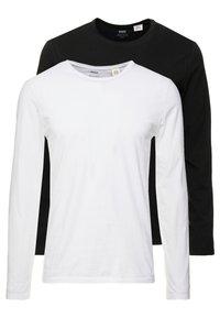 Levi's® - SLIM CREWNECK 2 PACK - Långärmad tröja - white/black - 0