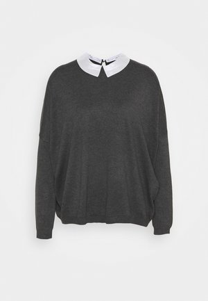 COLLAR SPECIAL - Strickpullover - medium grey