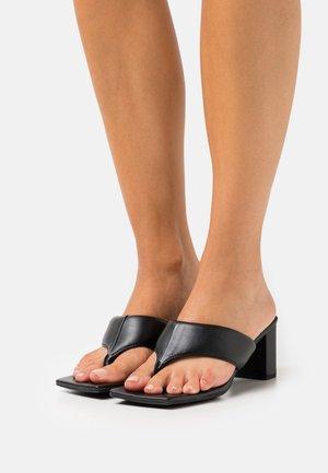 TASHA THONG HEEL - T-bar sandals - black