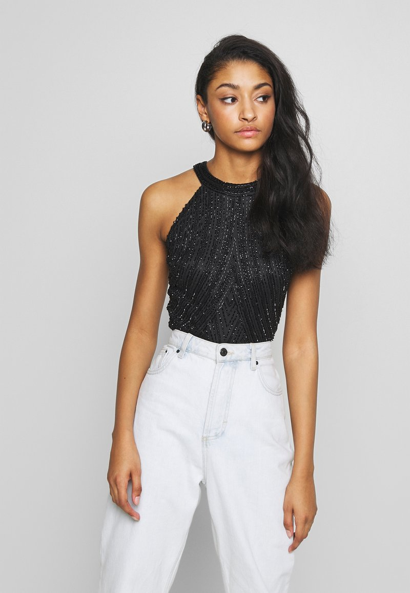 Lace & Beads - ROSETTE - Top - black
